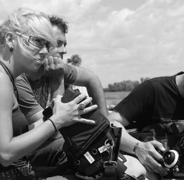 Mariloup Wolfe  Sur le plateau du film Les pieds dans le vide