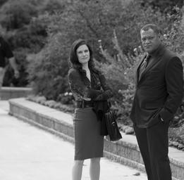 Caroline Dhavernas Caroline dans Hannibal aux côtés de Laurence Fishburne Photo: AddikTV