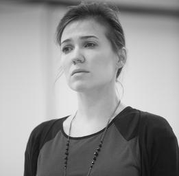 Rose-Maïté Erkoreka En répétition pour Les Innocentes Photo: François Laplante Delagrave